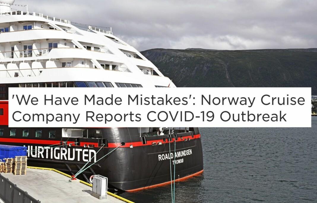 Bilder av Hurtigruten-skipet Roald Amundsen til kai i Tromsø spres over hele verden i disse dager.