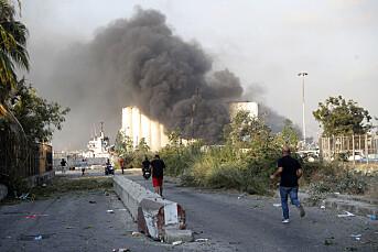 Norsk journalist nær den dramatiske eksplosjonen i Beirut: – Så glassbiter overalt