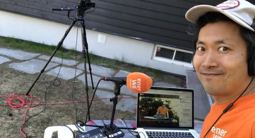 Blottla seg selv i direktevideo fra hjemmekontoret - ga ny inntektskilde for nettavisa