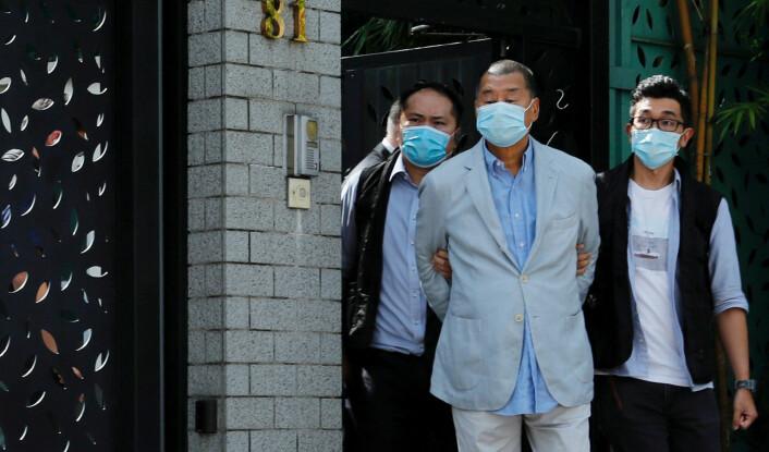 Pågripelsen av medietopp i Hongkong skaper sterke reaksjoner: – Sjokkerende