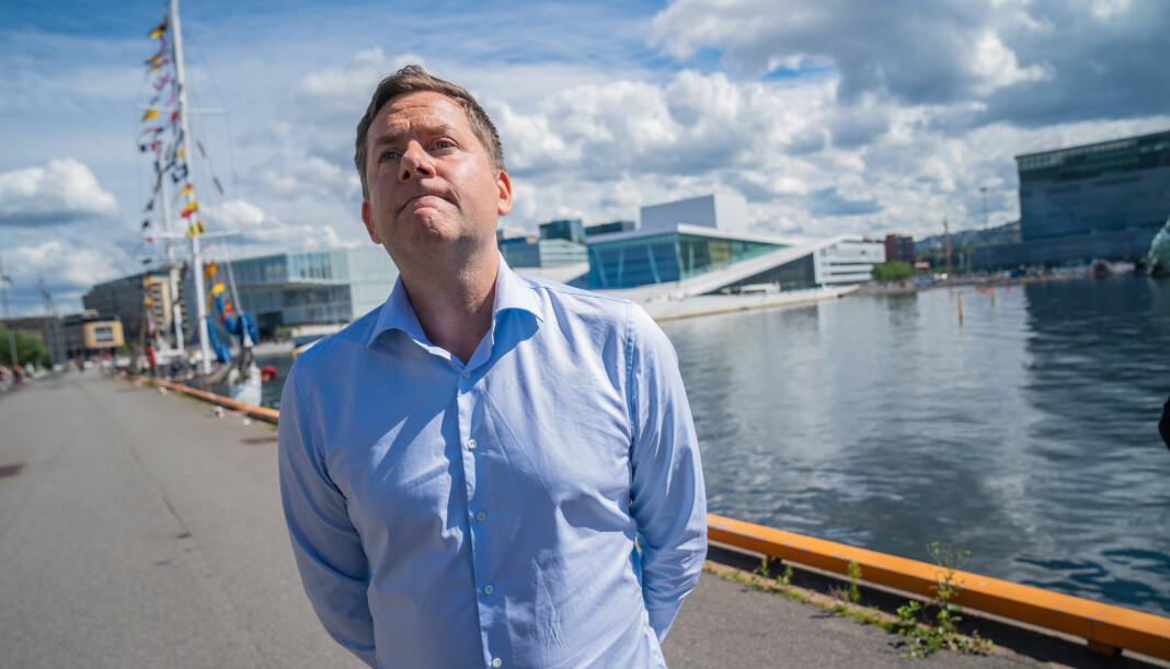 Konsernsjef i Hurtigruten, Daniel Skjeldam, her fotografert 1. august.