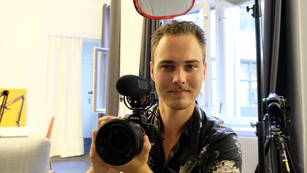 Ludvig Gundersen skal jobbe flermedialt med produksjon av TV, webinar og nettjournalistikk.