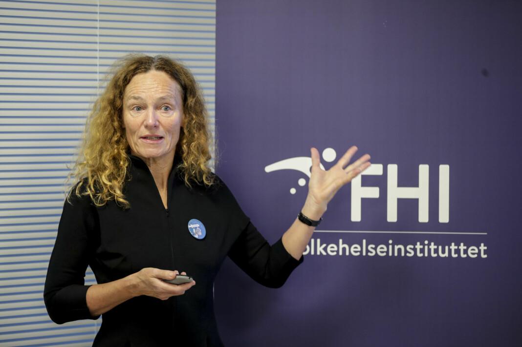 FHI avviser fire nye koronadødsfall siste døgn. Kun åtte er innlagt i Norge med viruset. Her ved Camilla Stoltenberg, direktør i instituttet.