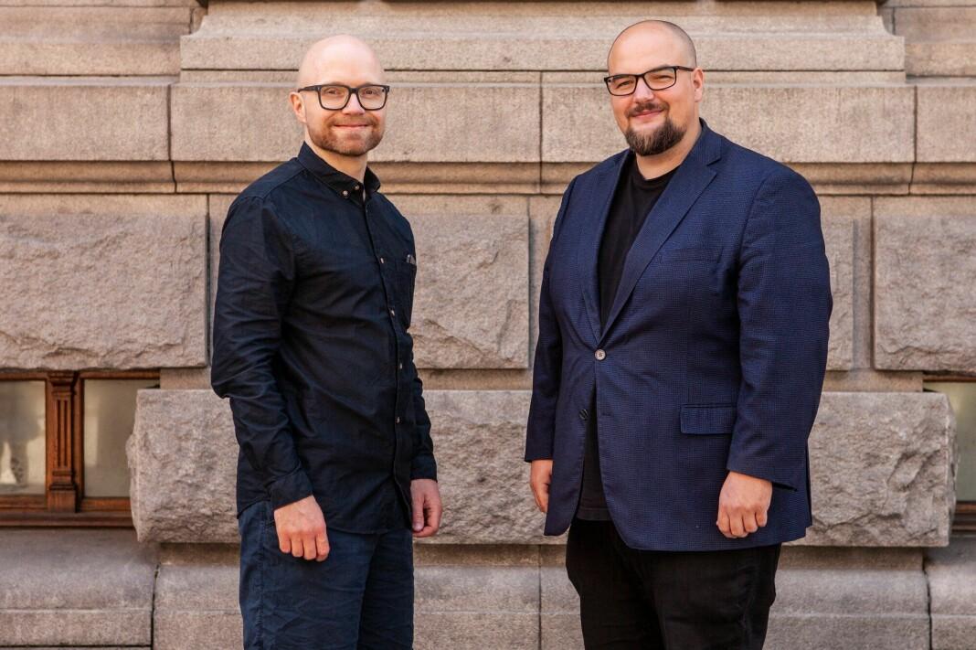 Ansvarlig redaktør Erik Waatland sammen med sin nye vaktsjef, Jan Magnus Weiberg-Aurdal (t.v.).