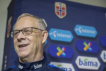 Munnbind-pålegg på Lagerbäcks pressemøte