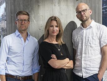 Trioen bak podkasten Tut & Mediekjør. Fra venstre Svein Tore Bergestuen, Eva Sannum og Christian Lyder Marstrander.