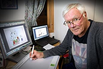 Mike (80) har vært tegner for Fædrelandsvennen siden 1975: – Samfunnet forandrer seg, men det er ikke jeg så villig til