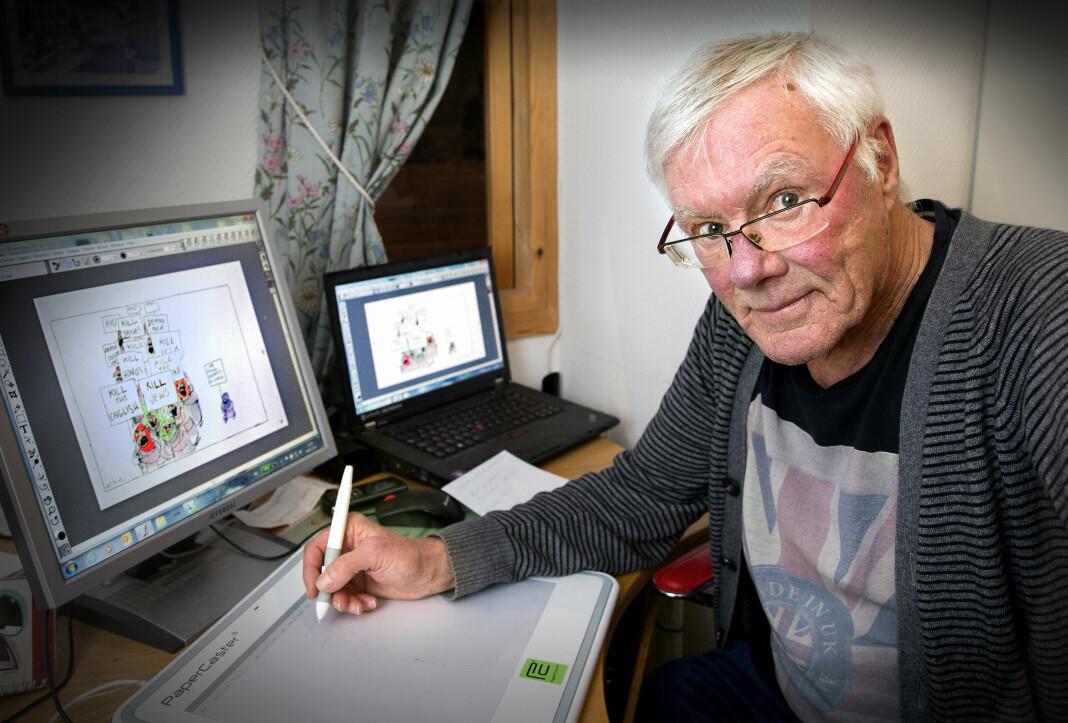 Avistegner Mike Tombs hedres i Kristiansand i hele september.