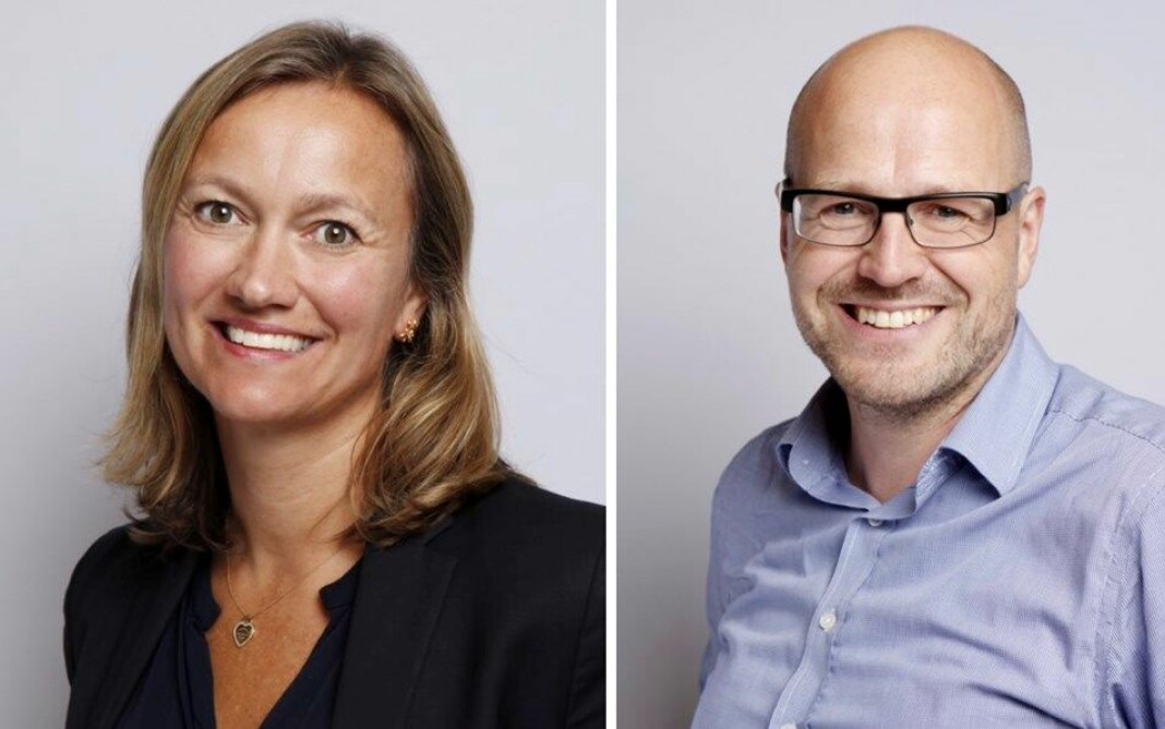 Nestleder og leder i Mediebedriftenes Landsforenings hovedstyre: Siv Juvik Tveitnes og Pål Nedregotten.