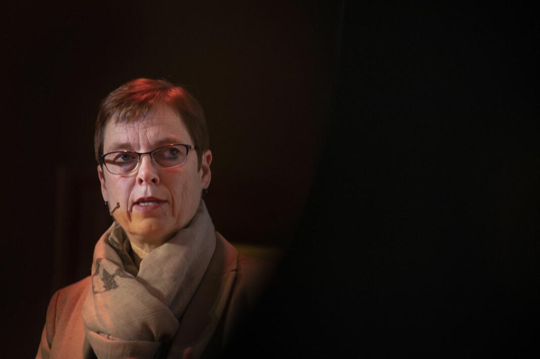 Direktør i Medietilsynet Mari Velsand åpner fra torsdag for søknader til kompensasjonsordningen for redaktørstyrte medier.