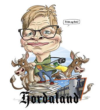 Karikatur av prisvinner Sigrid Seim.