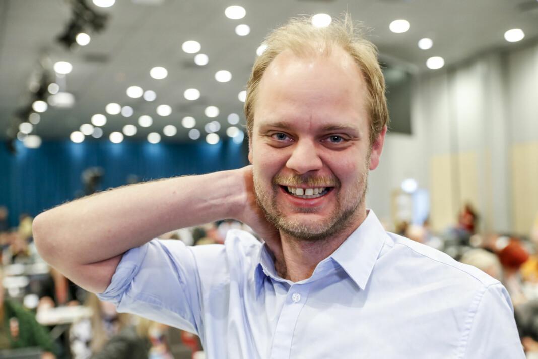 Mímir Kristjánsson, her på landsmøtet til Rødt.
