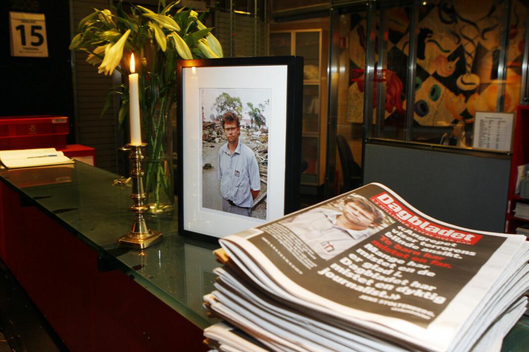 Dagbladet-journalist Carsten Thomassen ble skutt og drept i et terrorangrep mot Serena Hotell i Kabul i 2008.