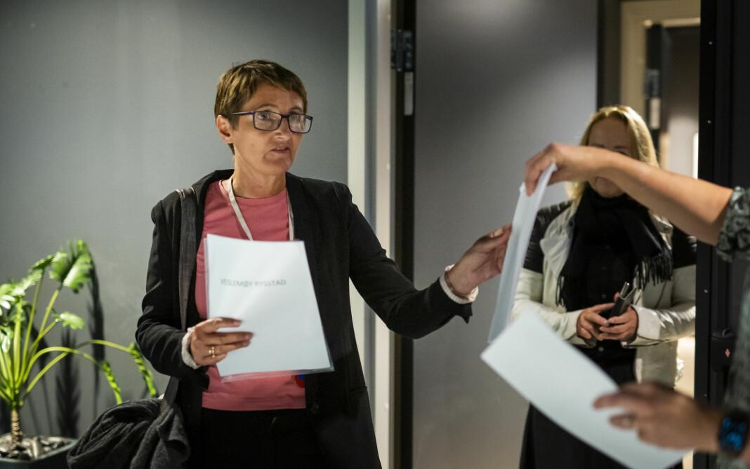 MBLs forhandlingsleder Pernille Børset fotografert i forbindelse med årets lønnsforhandlinger med Norsk Journalistlag.