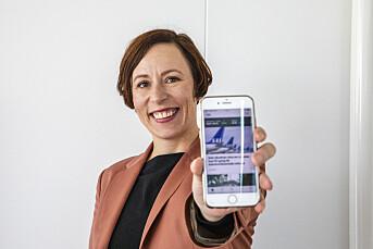 DN-redeaktør Ingeborg Volan med ny app.