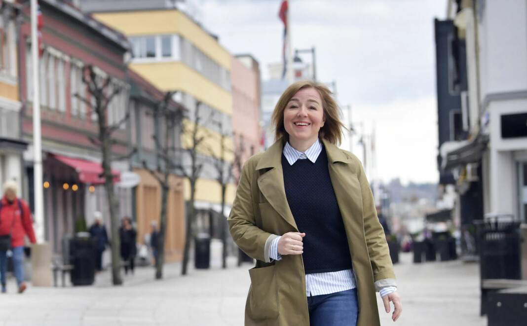 Katrine Strøm, sjefredaktør i Hamar Arbeiderblad beklager at avisa er hacket.