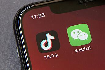 USA stenger for nedlasting av Tiktok og WeChat fra søndag