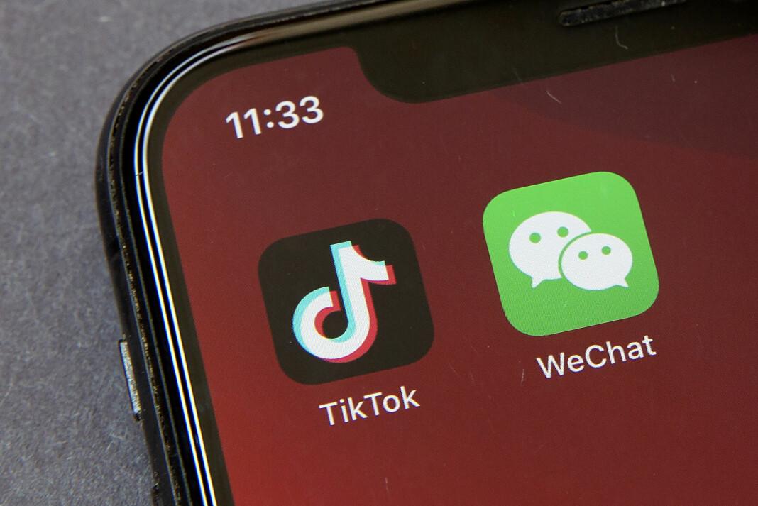 Handelsminister Wilbur Ross sier at amerikanske myndigheter stenger for bruken av to kinesiske apper av nasjonale sikkerhetsårsaker.