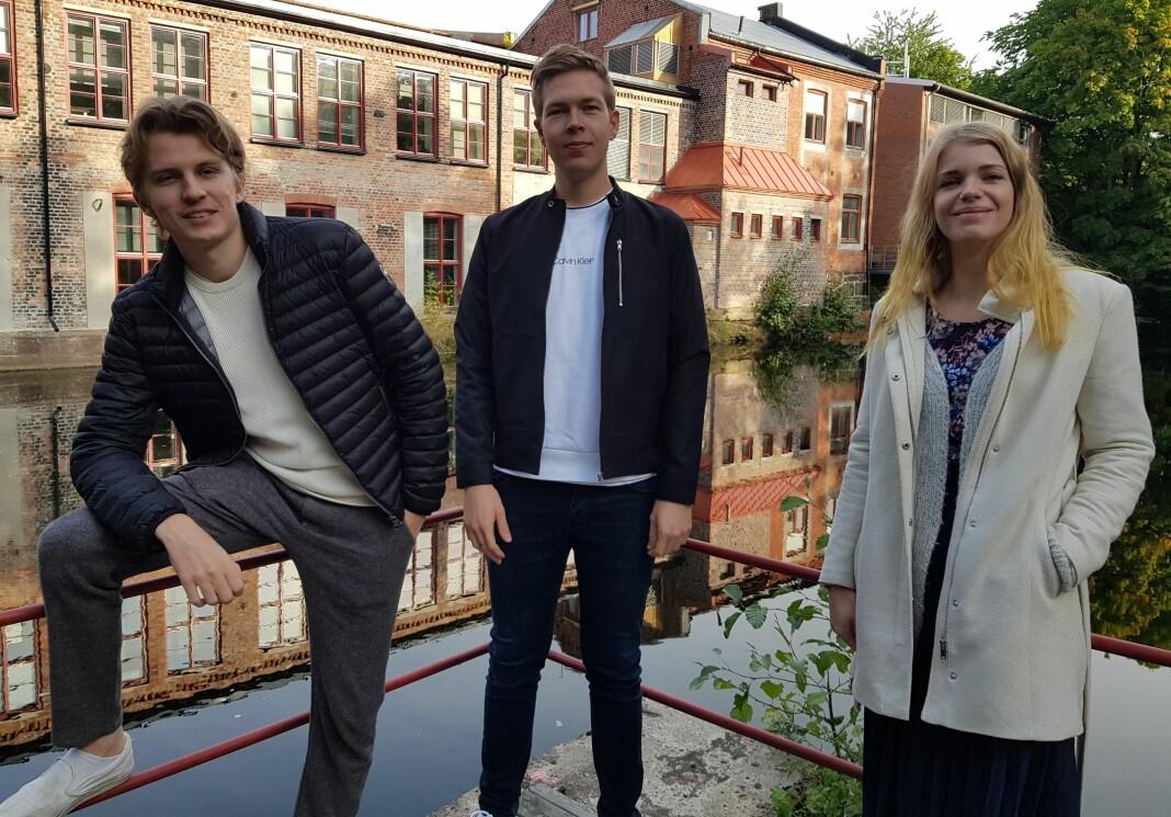 Simen Hage Høseggen, Anders Moen Kaste og Elise Kjørstad er alle nå en del av forskning.no-redaksjonen.