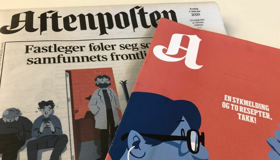 Aftenposten og A-magasinet fredag 7. februar i år.