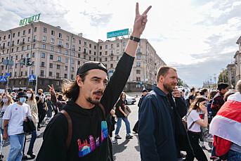Ole Øyvind Holth rapporterte fra Hviterussland: – Aktivistene har interessante historier og står i dramatiske ting, men det var viktig å ikke se seg blind på det
