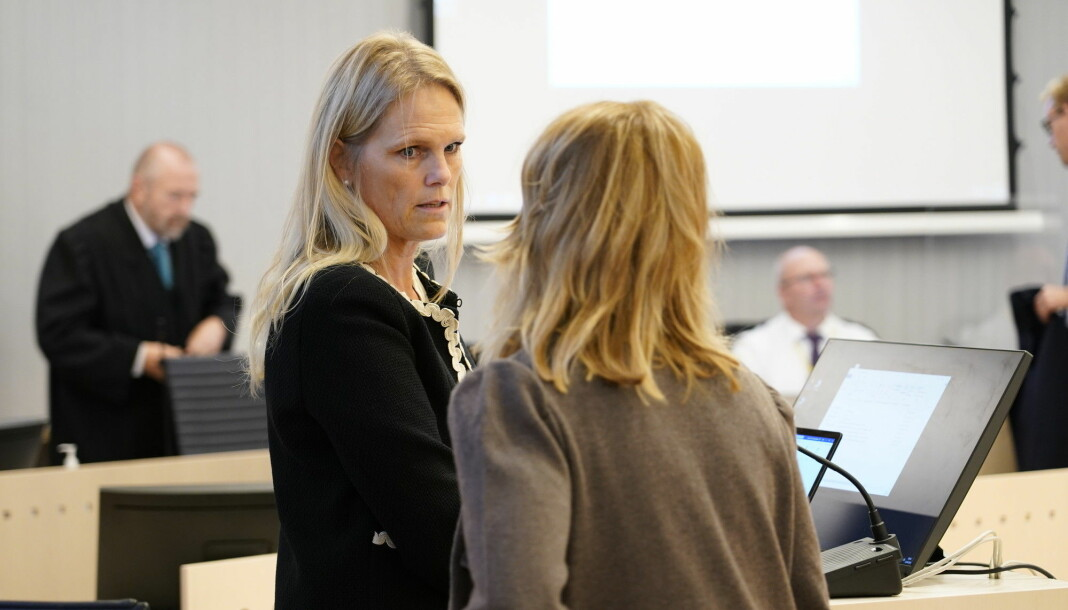 Tidligere statsråd Ingvil Smines Tybring-Gjedde i retten tirsdag. Onsdag forklarte hun seg som vitne.