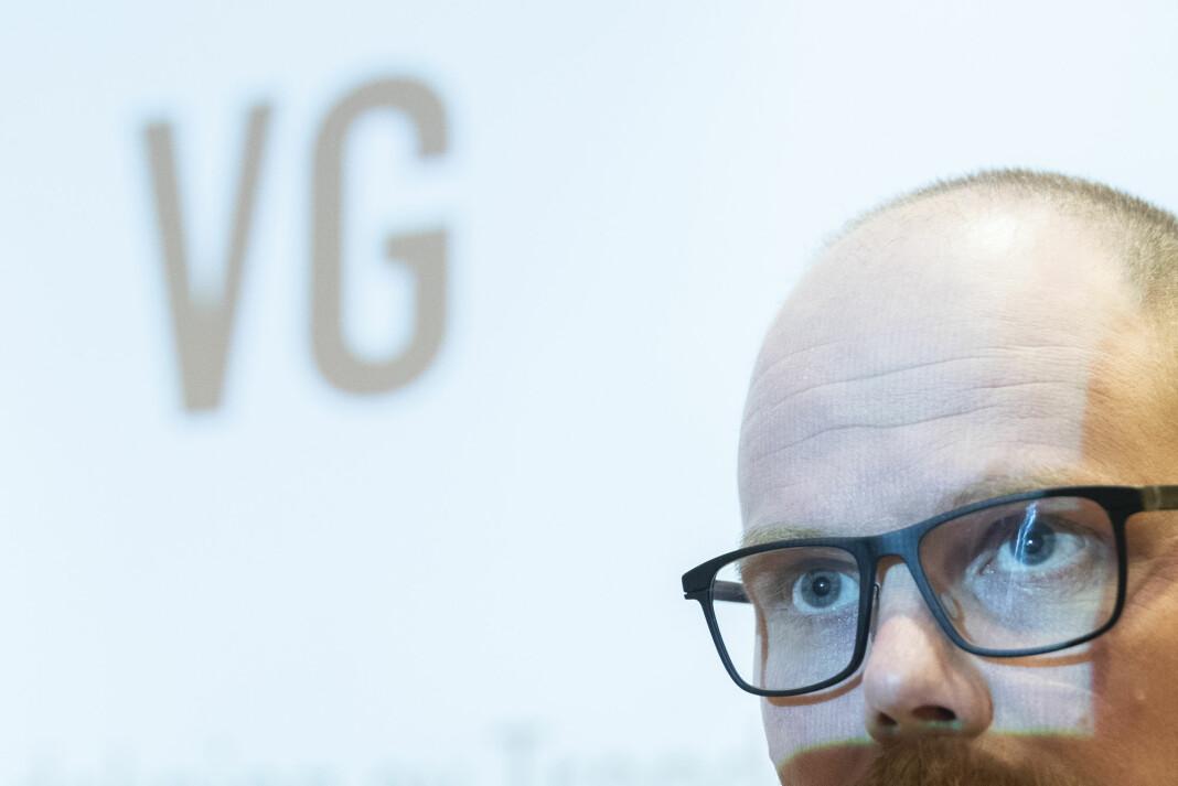 VG gikk fri for dansk dokumentar. Her ved sjefredaktør Gard Steiro.
