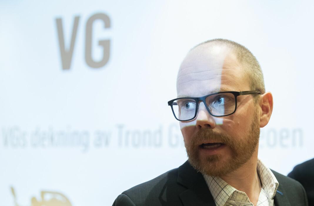 Tre klager mot VG skal opp for PFU. Her ved VGs sjefredaktør Gard Steiro. Foto: Berit Roald / NTB