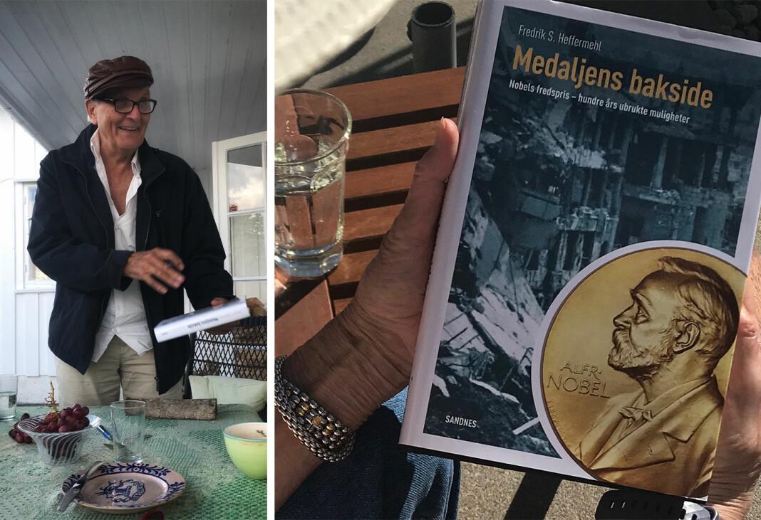 Forfatter og jurist Fredrik S. Heffermehl diskuterer sin siste bok, «Medaljens bakside».