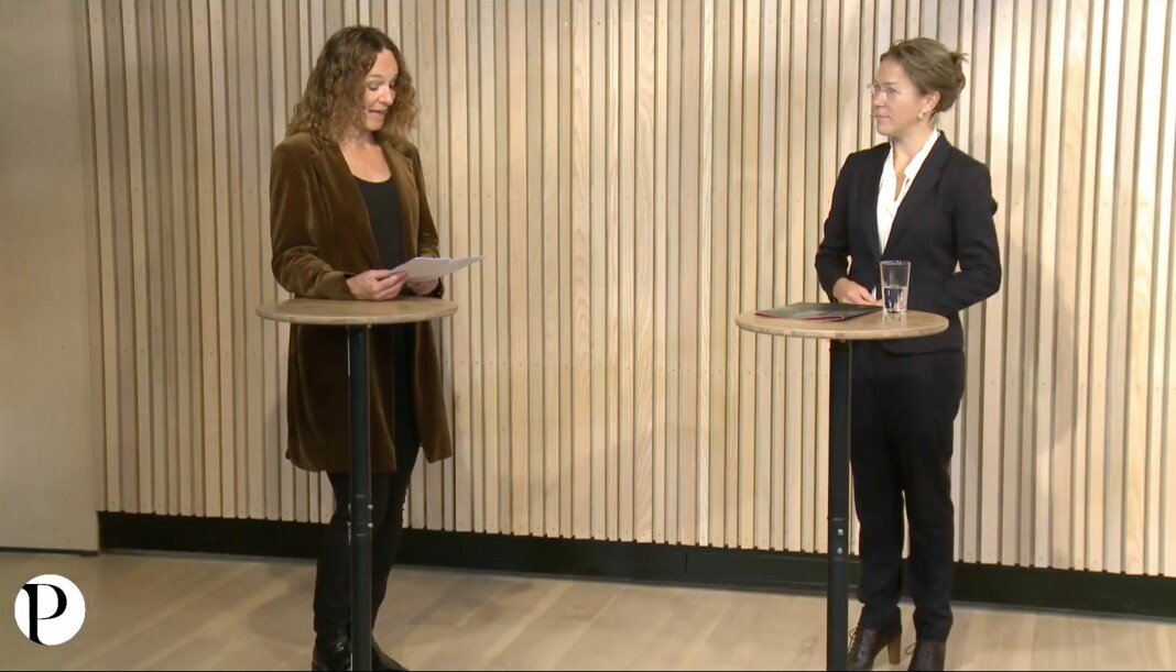 Camilla Stoltenberg fikk prisen av juryleder Anine Kierulf.