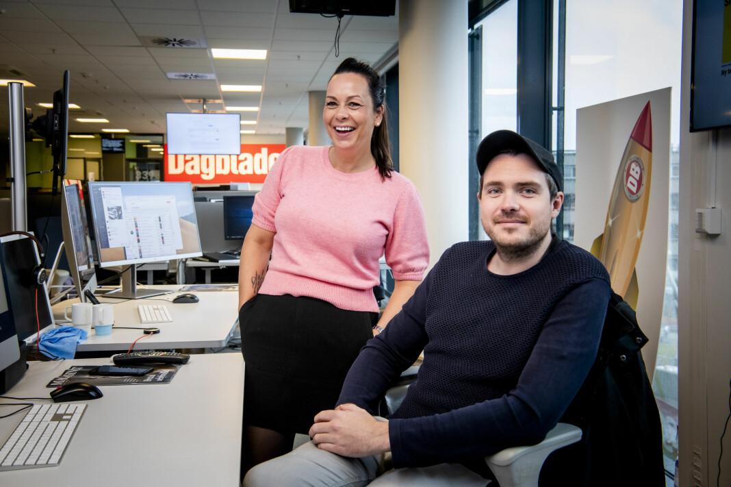 Tanja Wibe-Lund og Matias Ytterstad er to av fem digitale vaktsjefer i Dagbladet.