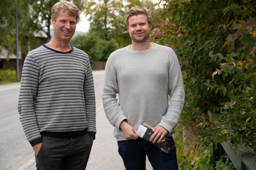 Administrerende direktør i Hallingdølen Ola Stave og redaktør Ragnar Hilde lanserer i dag hyttavår.no.