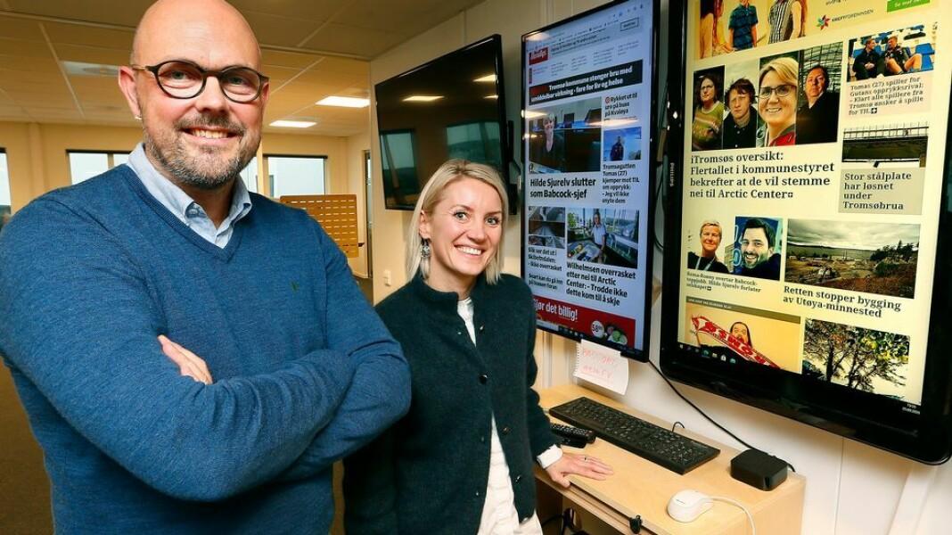 Nyhetsredaktør Trond Haakensen blir sjefredaktør og salgsdirektør Cecilie Stefanussen blir administrerende direktør når Stig Jakobsen reiser til Trøndelag for å lansere ny avis.