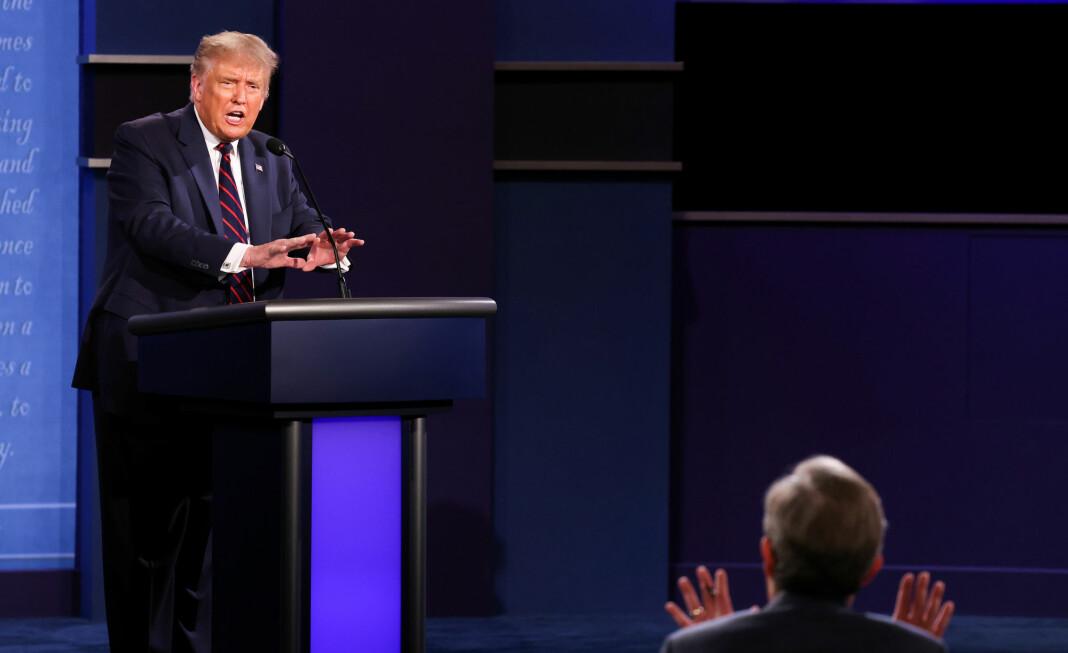 Ordstyrer Chris Wallace slet med å holde debatten på rett kjøl da president Donald Trump møtte Joe Biden i duell tirsdag.