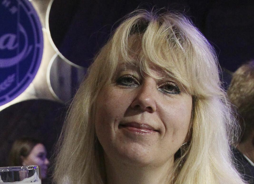 47 år gamle Irina Slavina tente på seg selv utenfor innenriksministeriets lokale avdeling i byen Nizjnij Novgorod.
