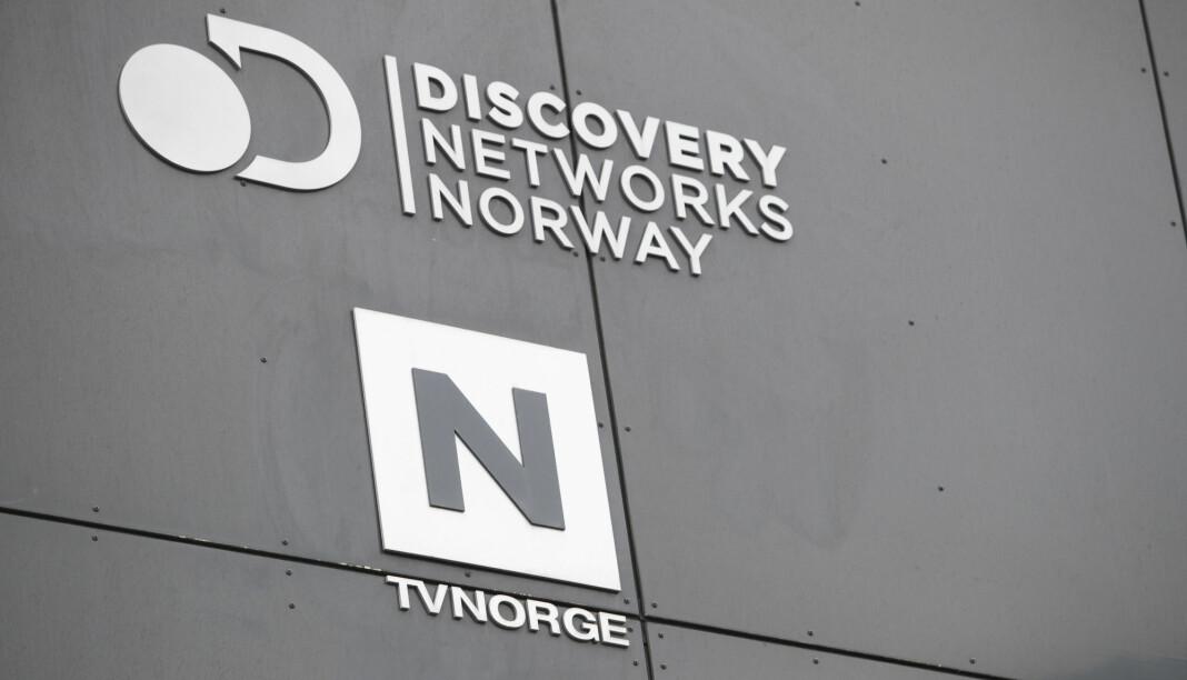 Oslo 20200303.  Logoen til Discovery Networks Norway og TVNorge. Foto: Terje Bendiksby / NTB