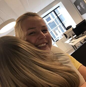 Da man fikk lov til å ha én klemmevenn, valgte Kjersti Westeng god venn og kollega Maria Schiller Tønnesen.