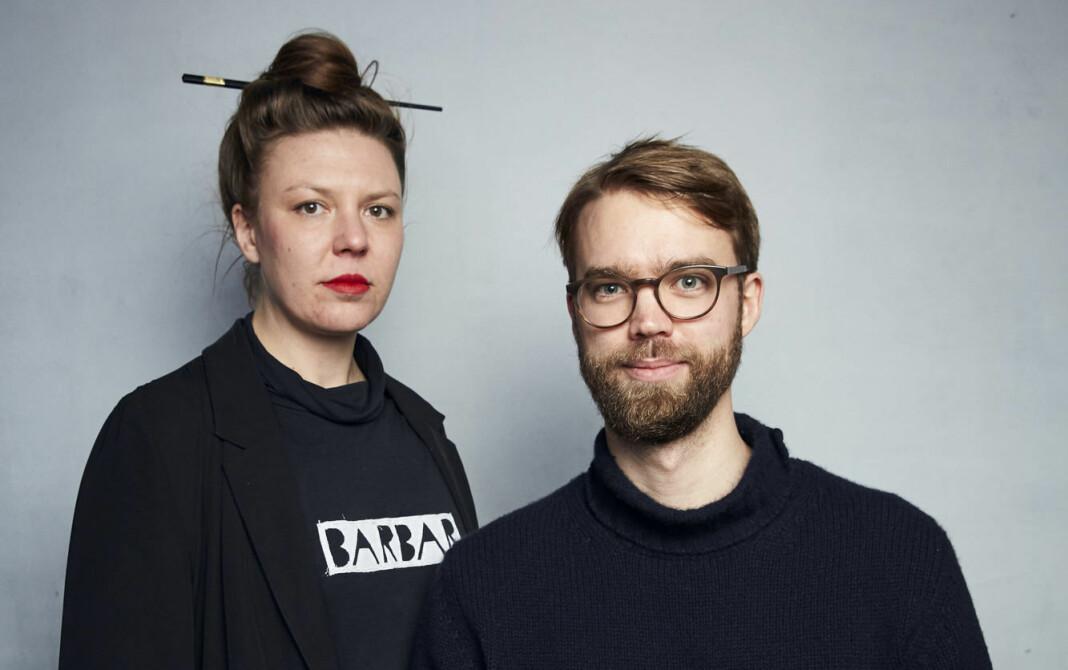 – Det er en stor ære for oss å vinne denne prestisjefulle prisen, sier regissør Benjamin Ree. Her sammen med Barbora Kysilkova.