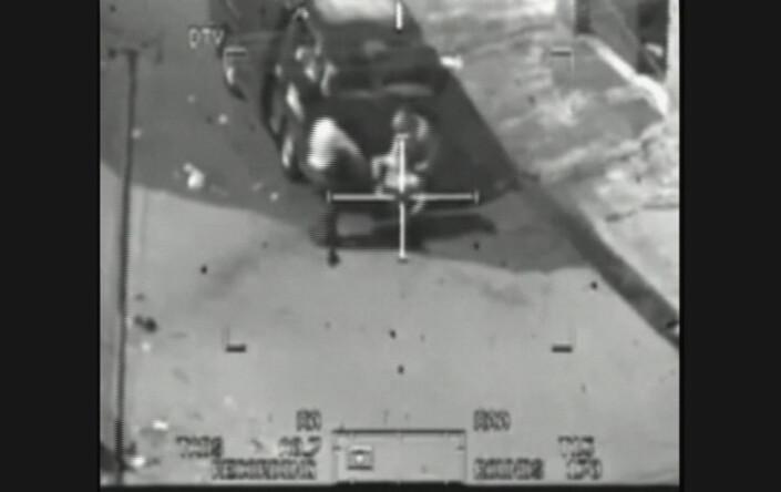 Bildet er fra videoen som viser at to Reuters-journalister blir drept under det amerikanske helikopterangrepet.