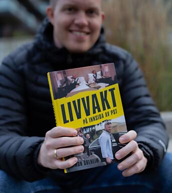 NRK-journalist Simon Solheim har gitt ut sin første bok, «Livvakt – på innsida av PST»