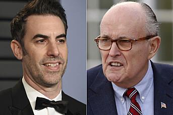 Giuliani lurt til hotellrom av falsk kvinnelig journalist i ny Borat-film