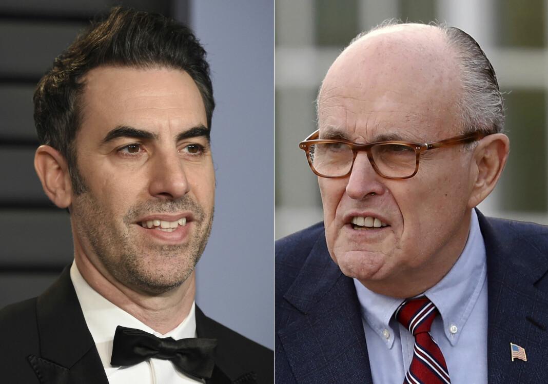 Sacha Baron Cohen lurte tidligere ordfører Rudy Giuliani inn på et hotellrom der han ble filmet sammen med en ung kvinne.