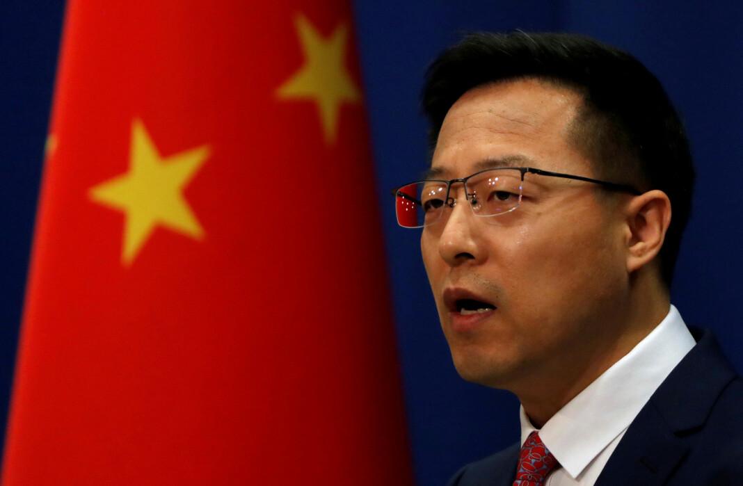 En talsmann for Kinas utenriksdepartement, Zhao Lijian, kaller tiltaket politisk undertrykkelse.