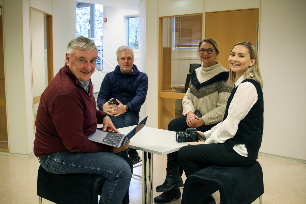 Mitt Kongsvinger-staben samlet: Fra venstre Bjørn Taalesen, Geir Christiansen, Elisabeth Sjøbotten og Benedicte Bratås.
