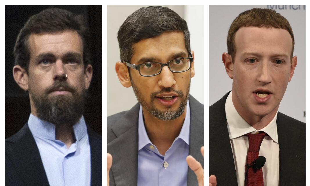Blir grillet i Senatet om lovgivning som fritar dem fra ansvar for ytringer på plattformene