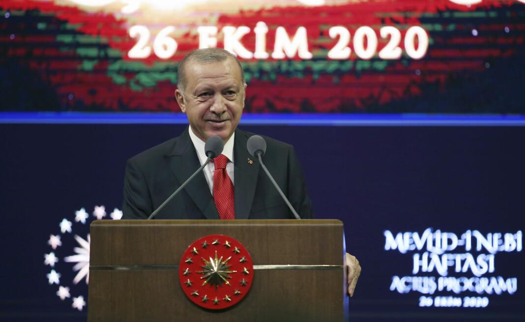 Tyrkias president Recep Tayyip Erdogan er ikke imponert over satiremagasinet Charlie Hebdo.