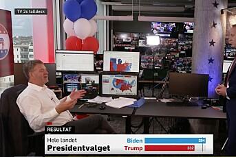 TV 2 utroper Joe Biden som valgvinner i USA