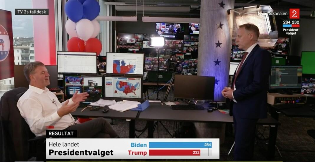 TV 2s tallknuser Terje Sørensen er ikke i tvil: Joe Biden blir ifølge ham USAs neste president.