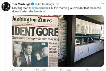 Trump-topp publiserte falsk Washington Times-forside