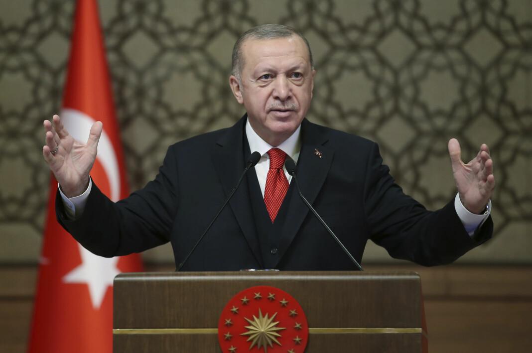 Journalistene i Cumhuriyet ble pågrepet noen måneder etter kuppforsøket mot Tyrkias president Recep Tayyip Erdogan (bildet).